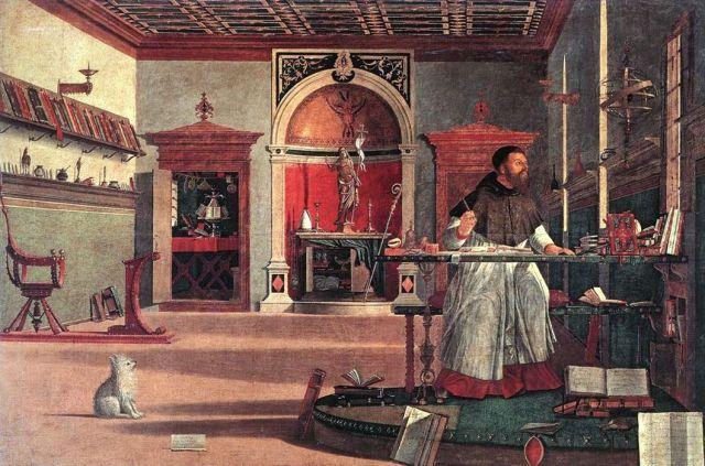 Sant'Agostino nel suo studiolo, V. Carpaccio, Scuola Dalmata (degli Schiavoni) , Venezia, 1502
