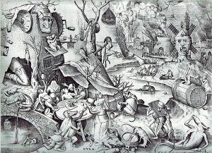 Bruegel il vecchio, La Gola, stampa calcografica,1557